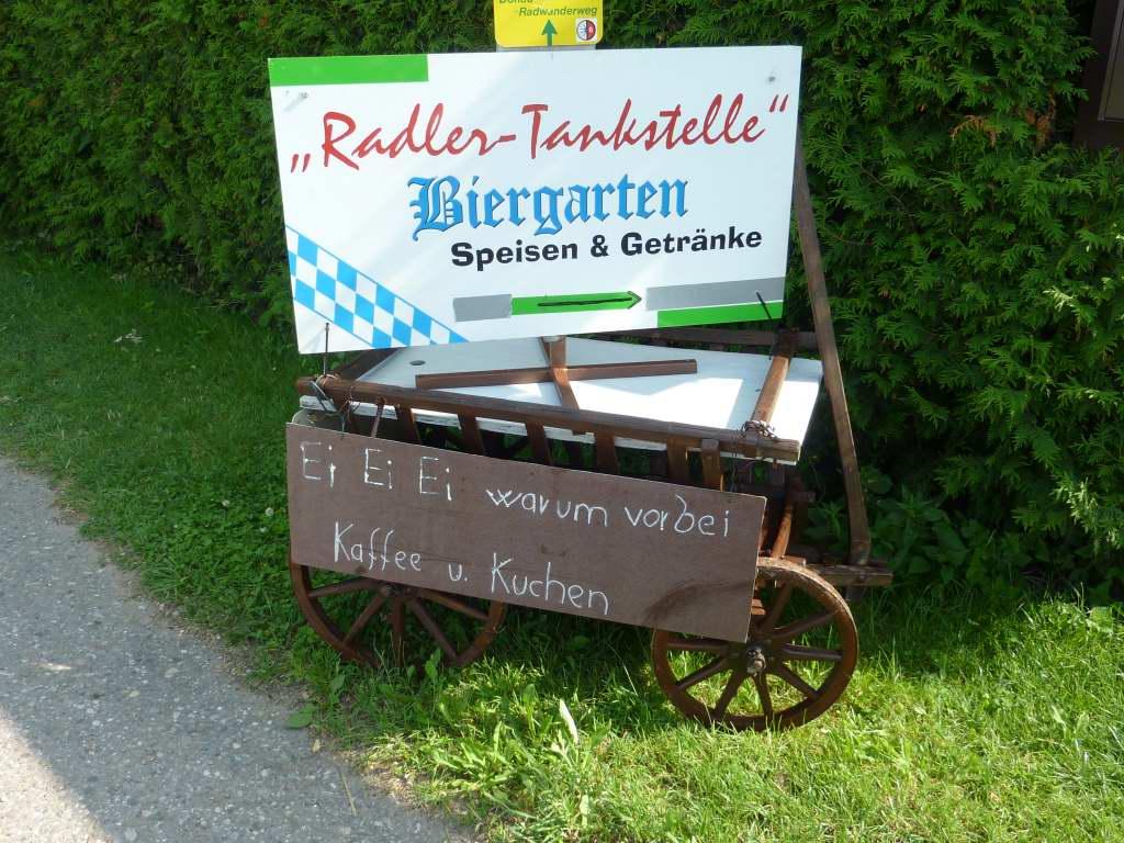 Radler-Tankstelle (aber nicht für uns!)