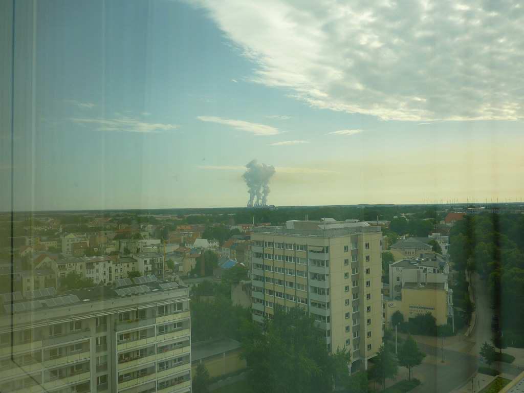 Blick aus dem Zimmer in Cottbus...